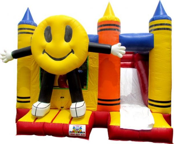 Smiley Crayons COMBO Jumping Castle